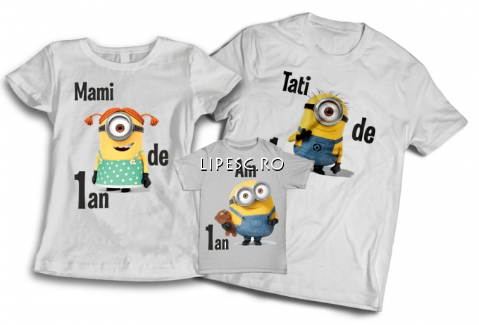 Set tricouri aniversare 1 an