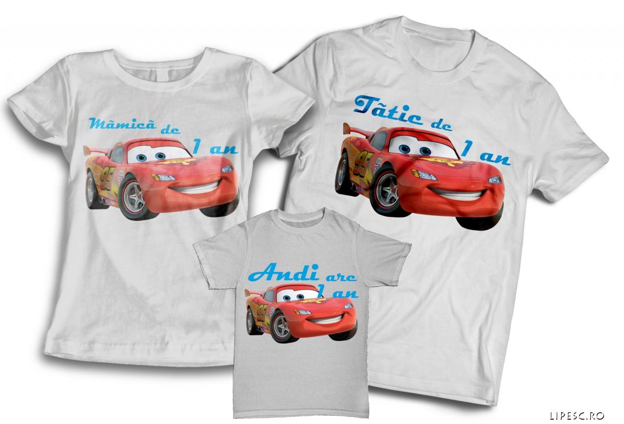 Set tricouri aniversare Cars