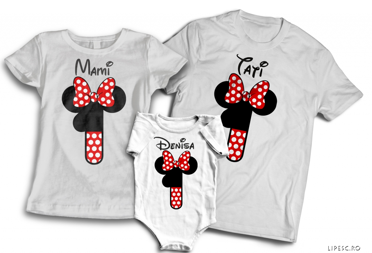 Set tricouri familie 1 an