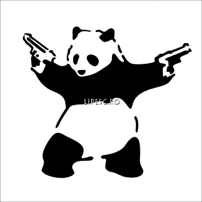 Sticker auto panda