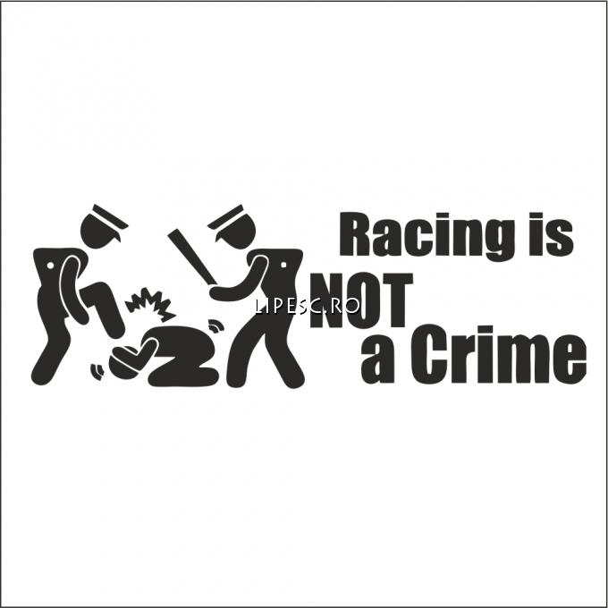 Sticker racing not a crime