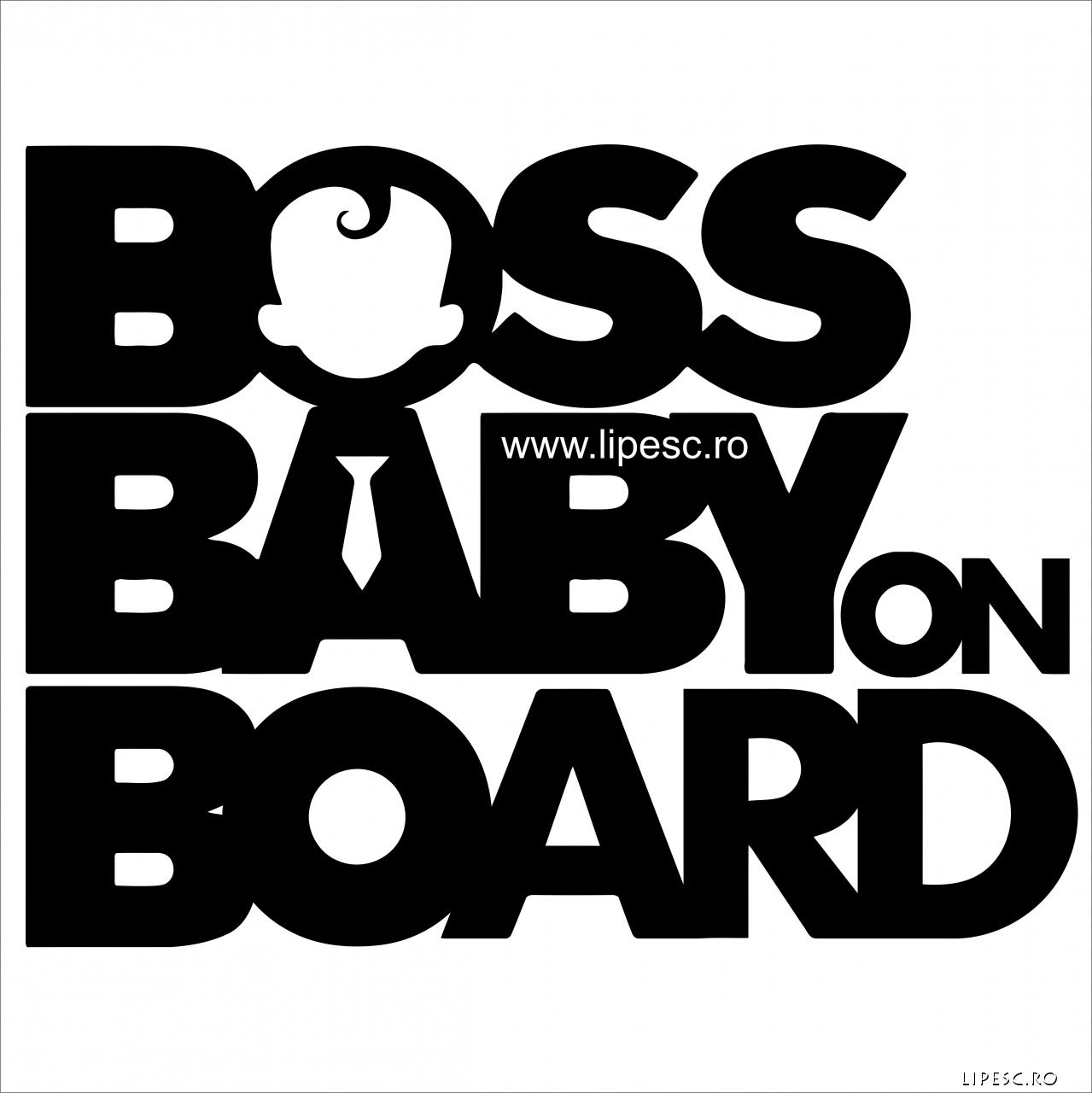 Sticker boss baby on board