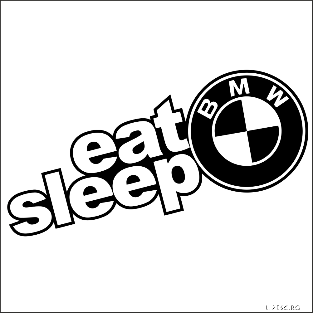 Sticker eat sleep