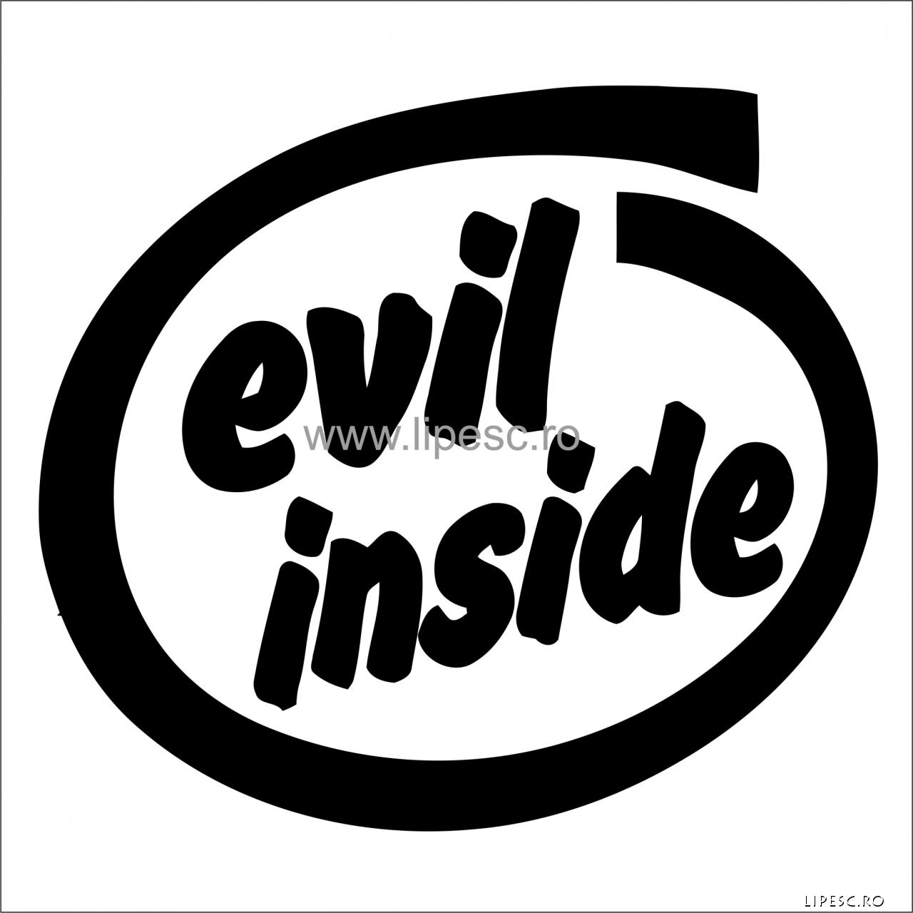Sticker evil inside