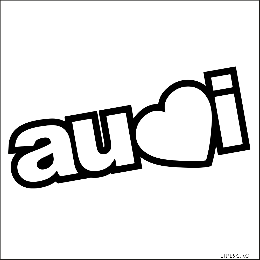 Sticker i love audi