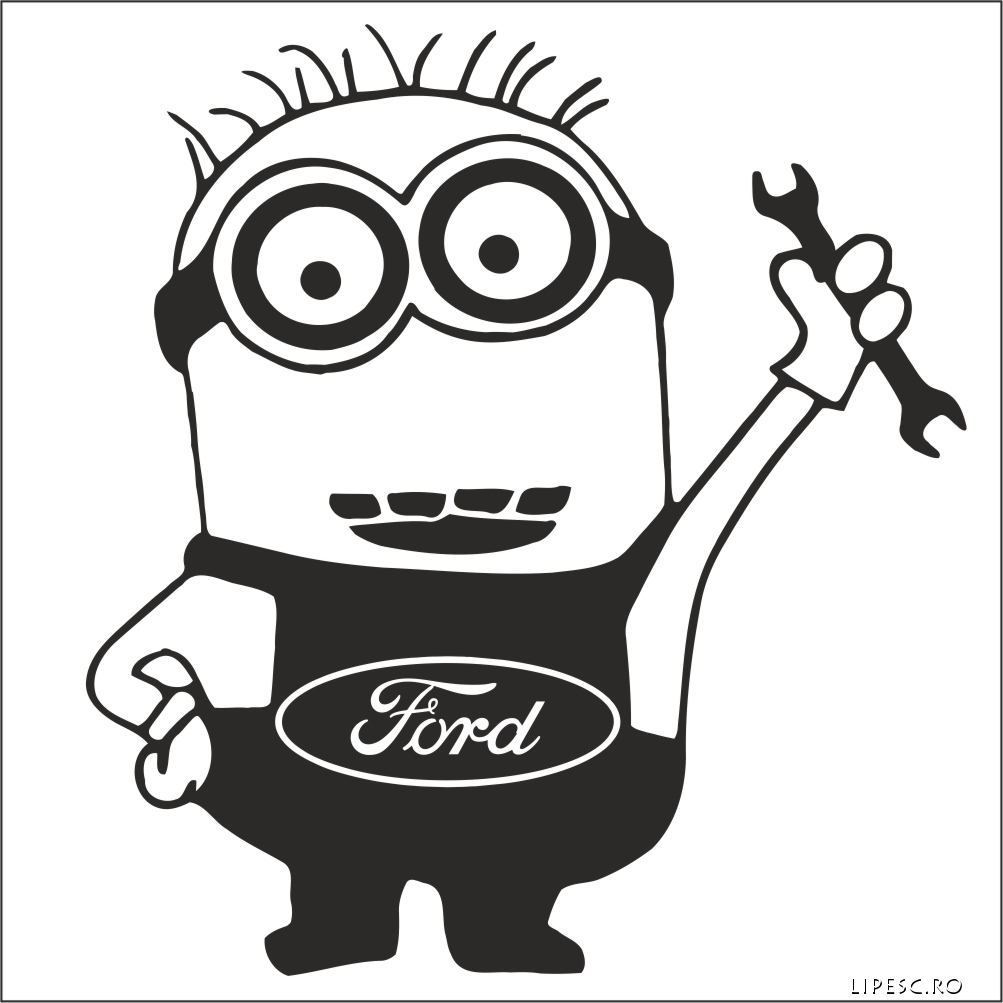 Sticker minion FORD