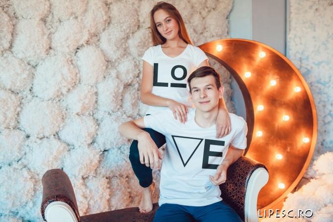 Tricouri cupluri LOVE