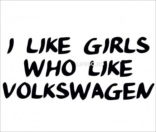 Sticker i like volkswagen