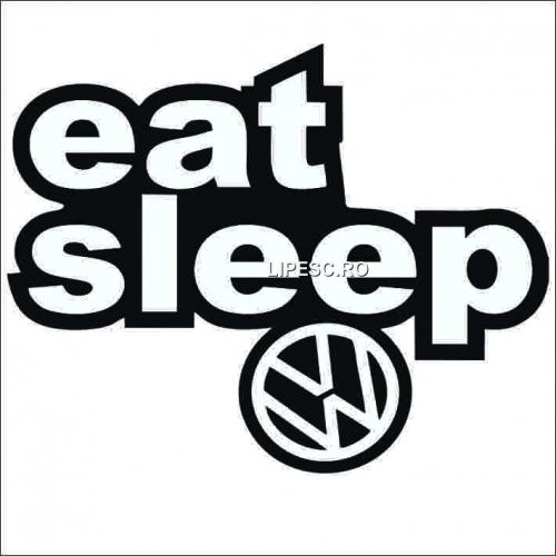 Sticker eat sleep vw