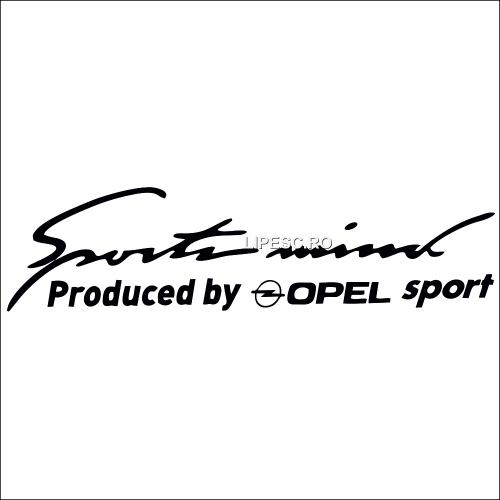 Sticker sport mind Opel