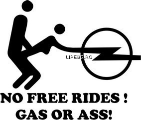 Sticker No free rides Opel