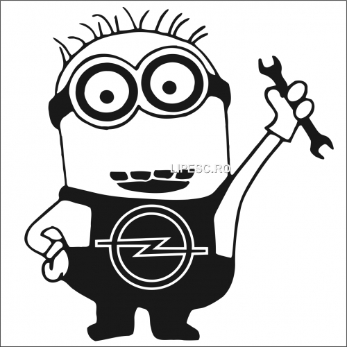 Sticker minion Opel