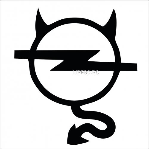 Sticker devil Opel