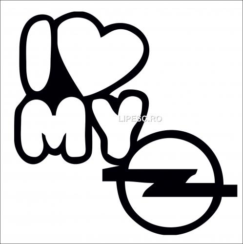 Sticker i love my Opel