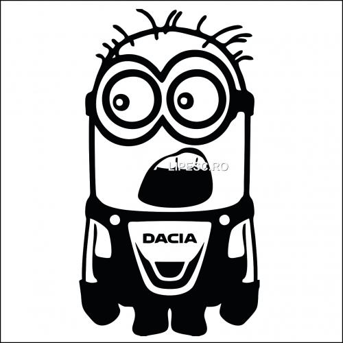 Sticker minion Dacia