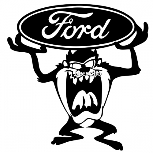 Sticker diavolul tasmanian ford