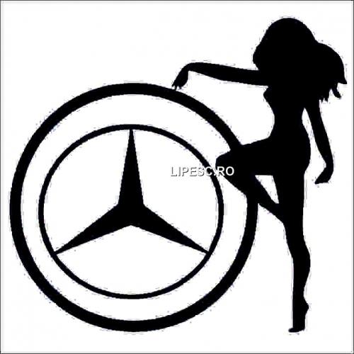 Sticker Mercedes girl