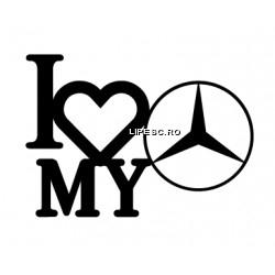 Sticker i love my Mercedes