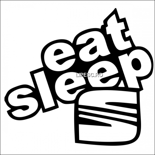 Sticker eat sleep Seat