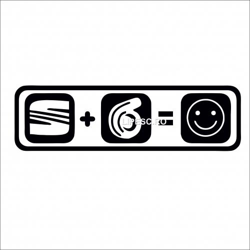 Sticker seat+turbina