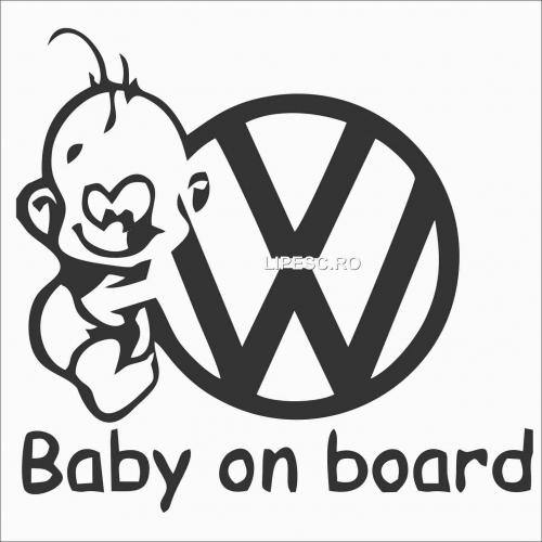 Sticker baby on board vw