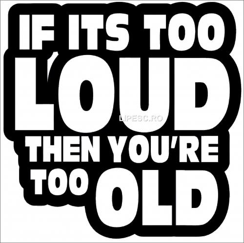 Sticker auto loud