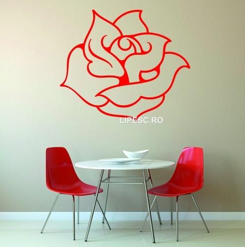 Sticker trandafir
