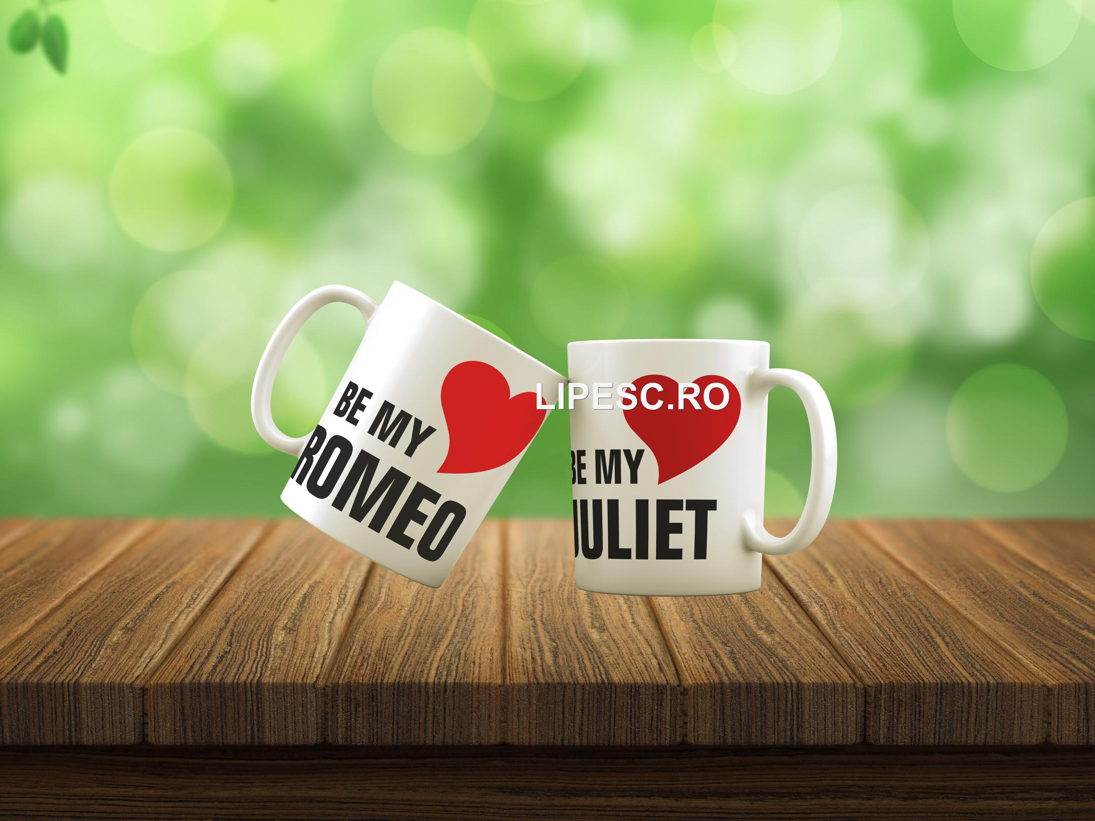 Căni pentru cupluri Romeo&Juliet