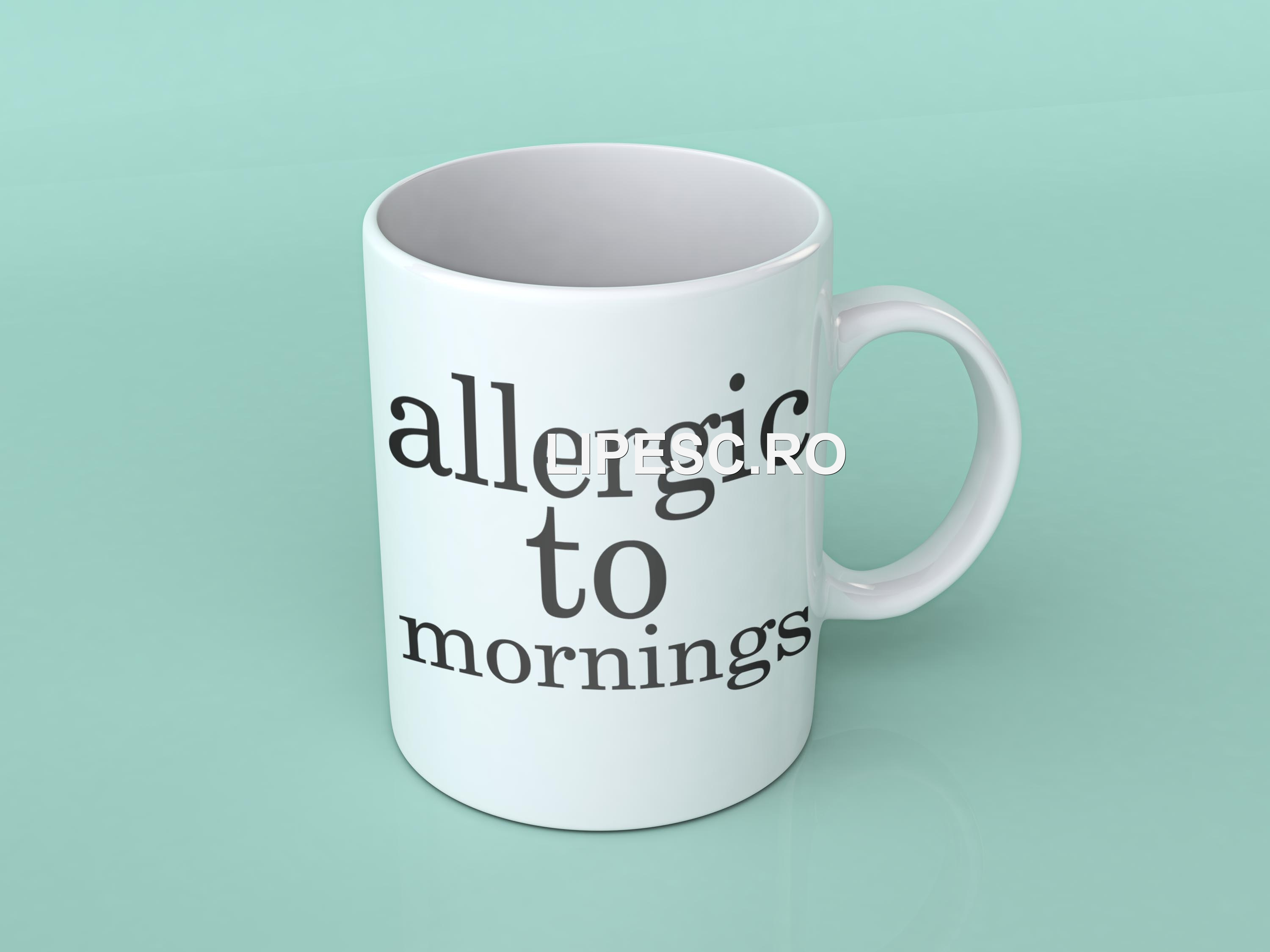 Cană Allergic to mornings