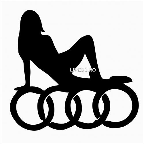 Sticker lady Audi