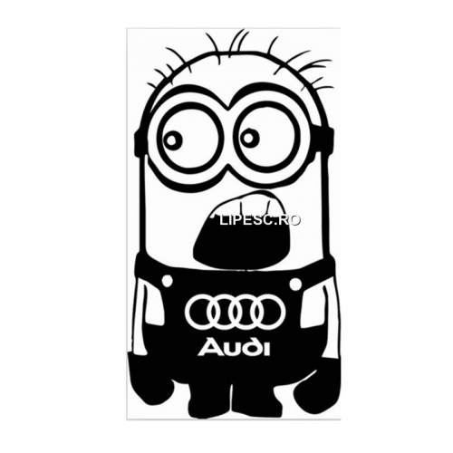 Sticker minion Audi