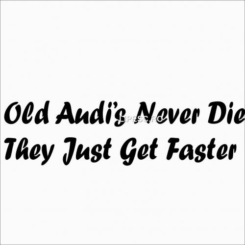 Sticker Audi never die