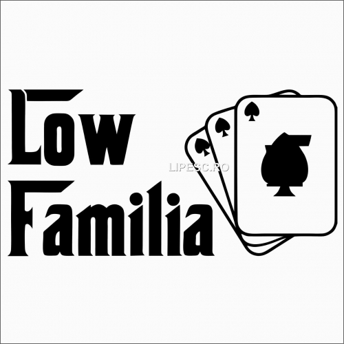 Sticker Audi low familia