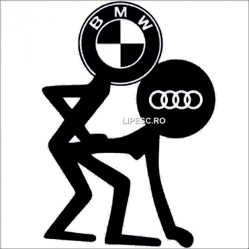 Sticker Bmw contra Audi
