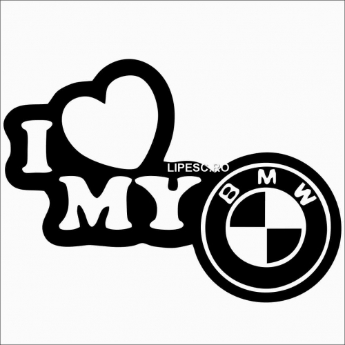 Sticker i love my Bmw