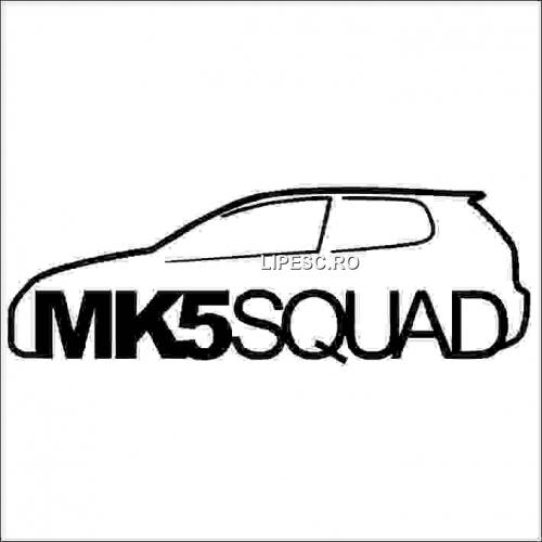 Sticker vw mk5 squad