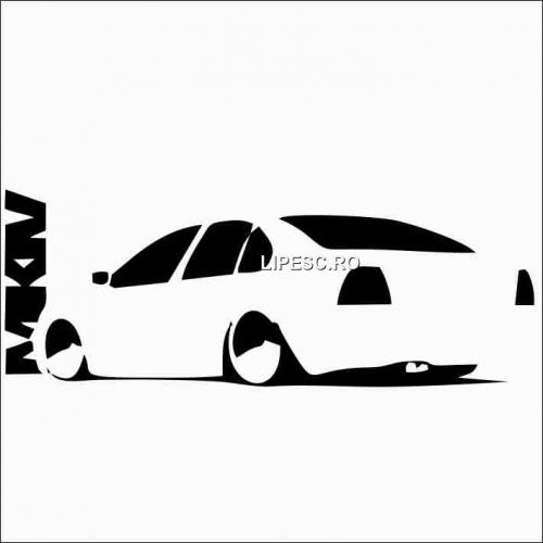 Sticker volkswagen bora