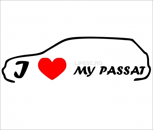 Sticker i love my passat
