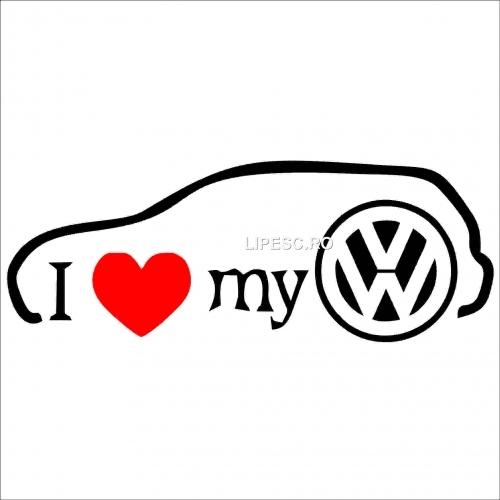 Sticker i love my VW