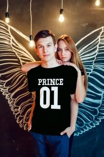 Set tricouri cupluri prince & princess2