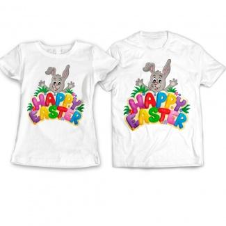 Set tricouri cuplu happy easter
