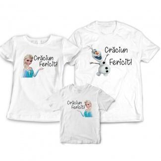 Set tricouri pentru craciun Elsa
