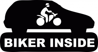 Sticker biker inside