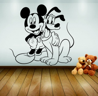 Sticker de perete Mickey si Pluto
