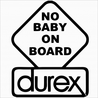 Sticker no baby on board