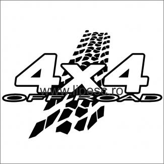 Sticker 4x4