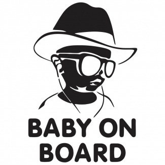 Sticker Baby on Board Cowboy