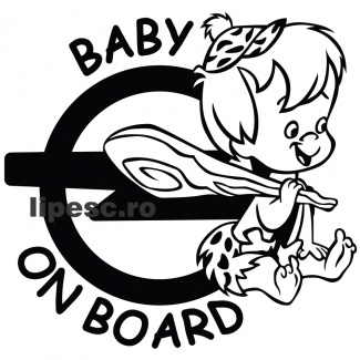 Sticker Opel Baby On Board