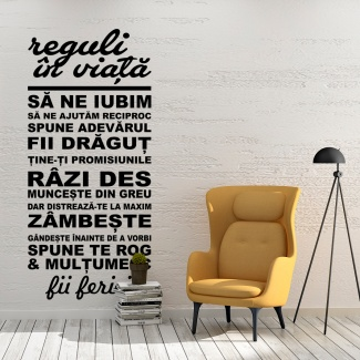 Sticker Reguli in viata