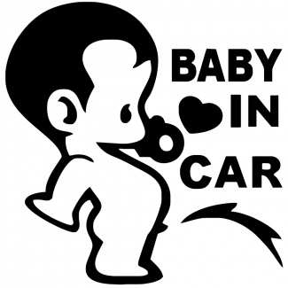 Sticker amuzant baby on board